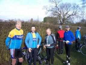 Wheelers at the start of an Ugley Audax